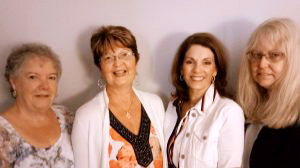 L-R Donna Rhodes, Cathy Caylor,  Elaine Santo, Lanette Beatty