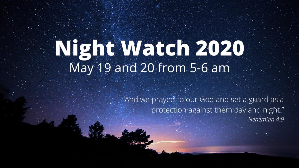 Invitation to join prayer call May 19-20